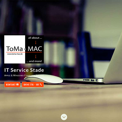 Homepage mit WordPress