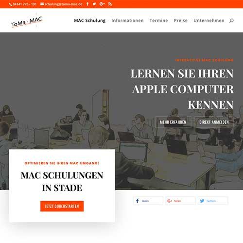 Webseite Mac Schulung