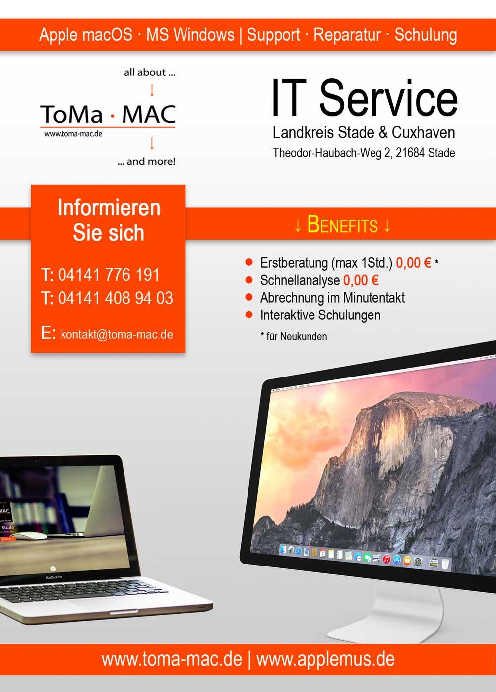 Apple Hilfe Toma Mac It Service Landkreis Stade